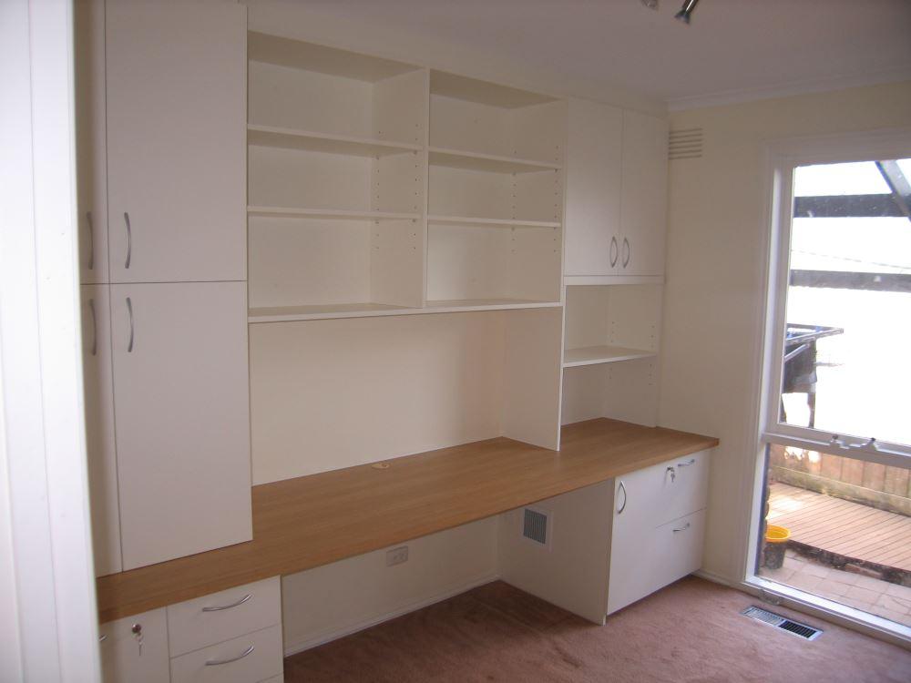Designer Field Interiors greensborough home office cabinetry